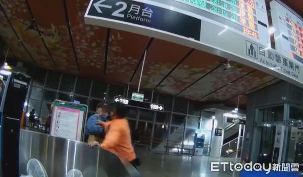 夫妻搭台鐵買區間票「硬坐自強號」 出站遭攔竟暴打站務員4分鐘