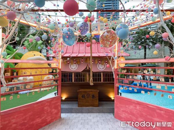 林口「日式祈願神社」免費拍!馬卡龍彩球高掛、繪馬牆求疫情退散
