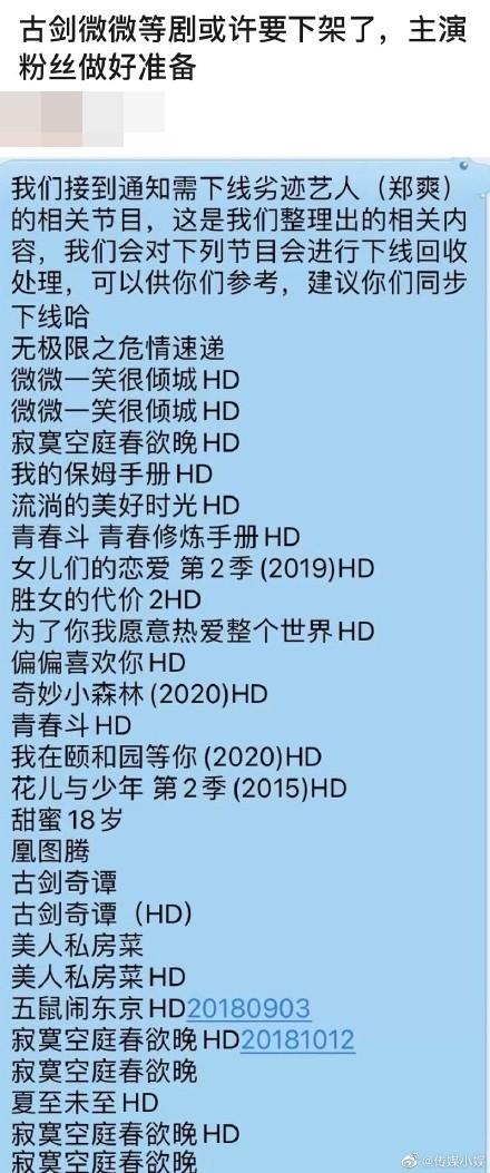 [新聞] 鄭爽遭廣電封殺…20部夯劇綜藝沒得看