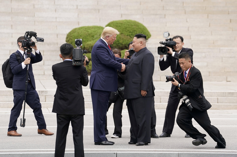 ▲▼拜登先前曾表示,川普會晤金正恩,此舉反而為北韓爭取研發核武的時間。(圖/路透社)