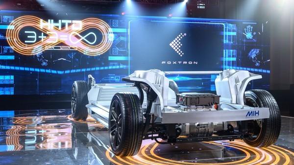 ▲鴻海MIH電動車平台,鴻華先進。(圖/鴻海提供)