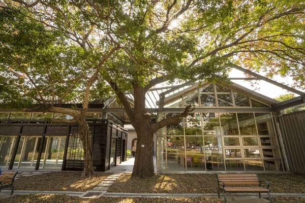 唯美圖書館+1!新竹「紅磚玻璃屋」3月開館 有挑高平台、懶骨頭