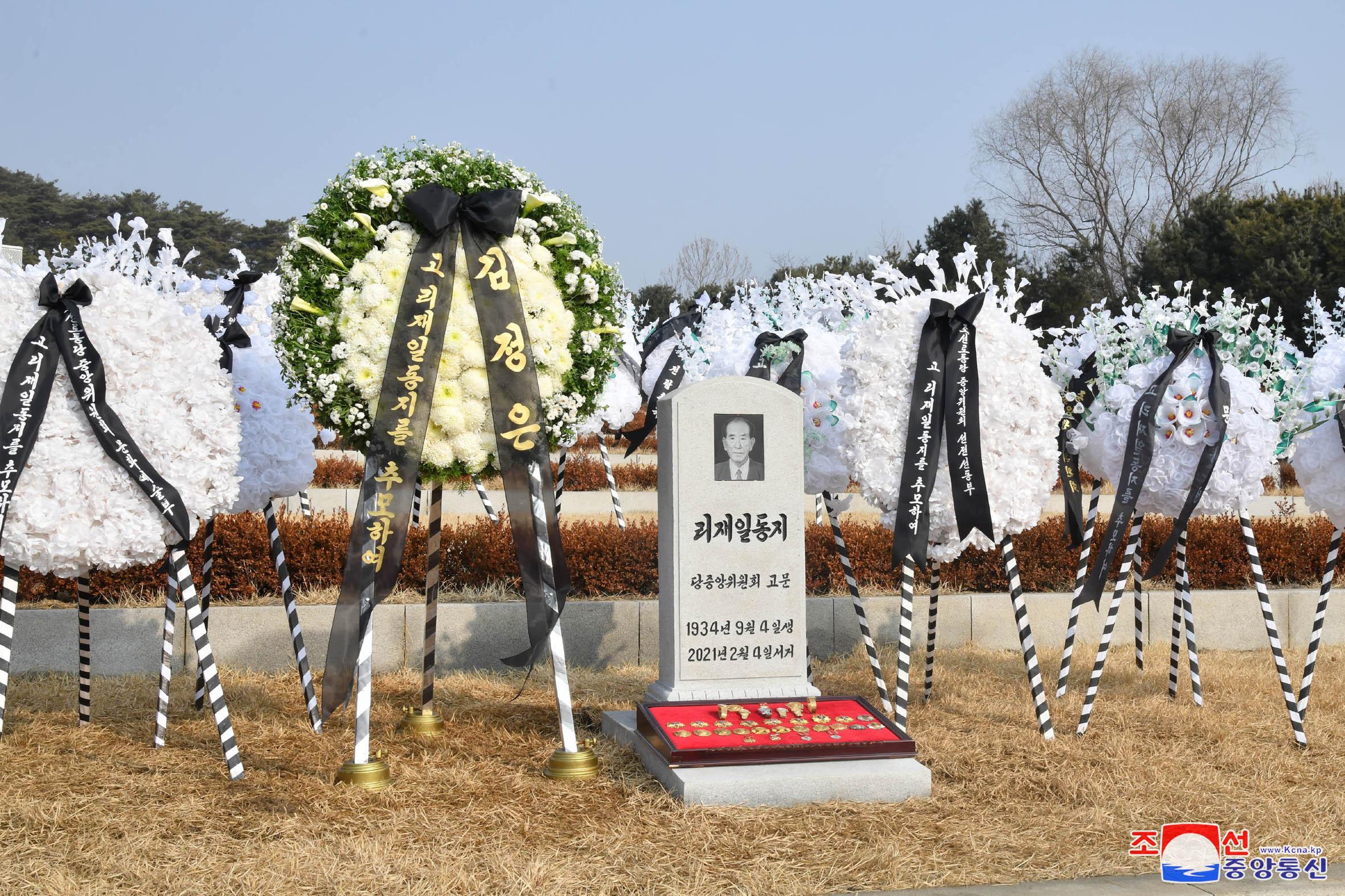 ▲▼北韓前任高官李在一病逝,金正恩致上花環表達哀悼之意。(圖/達志影像)