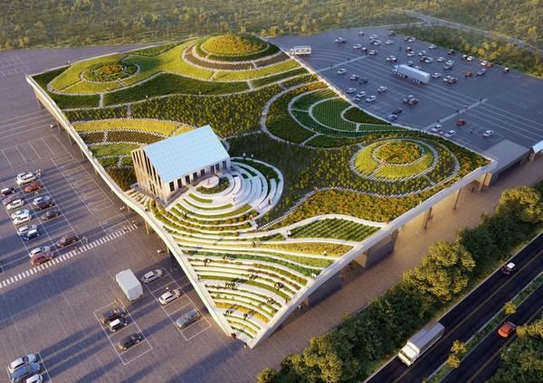台南新地標!全台首座「梯田型菜市場」9月啟用 波浪屋頂成觀景台 | ET