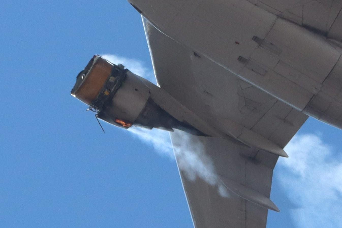 ▲▼ 飛機零件噴掉 。(圖/翻攝自Twitter/@tamaskls)