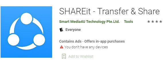 ▲▼SHAREit。(圖/取自Google Play商店)