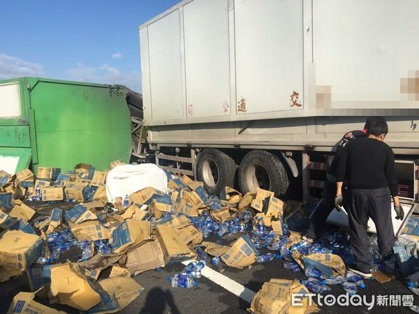 快訊/國道三號貨車爆胎釀1傷!竹東南下路段全線封閉 回堵5公里