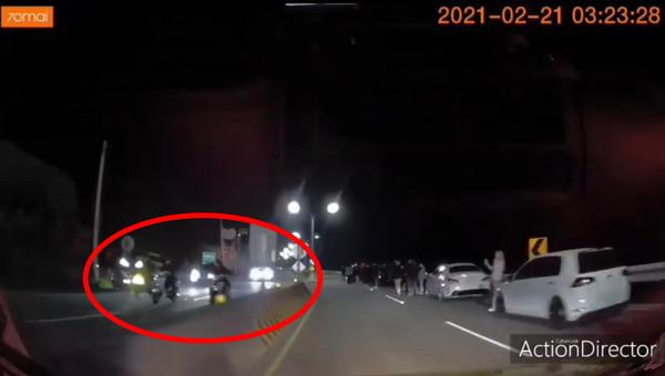 台二線深夜百人「封路飆車」 新北警長黃宗仁震怒:抓回依法嚴辦
