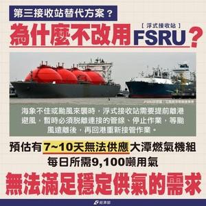 護藻礁!環團建議FSRU 經濟部:因有颱風不適合