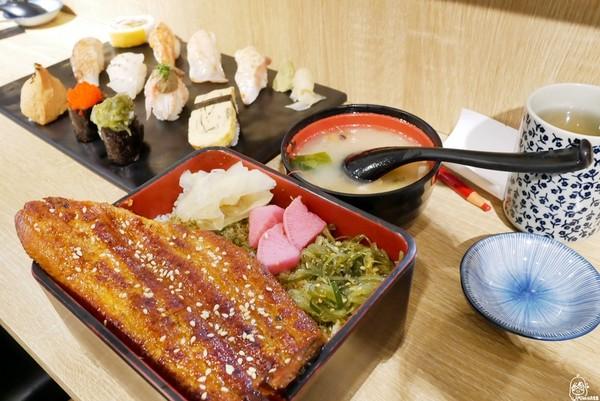 蒲燒醬汁烤鰻魚超下飯!台中日式壽司店 味噌湯大塊魚肉鮮甜濃郁 | ETt