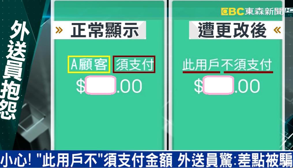 外送訂單顯示「用戶不須付錢」!