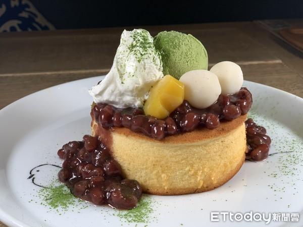 蜜紅豆鋪超滿!杏桃鬆餅屋「抹茶季」登場 還放了Q彈白玉、抹茶冰 | ET