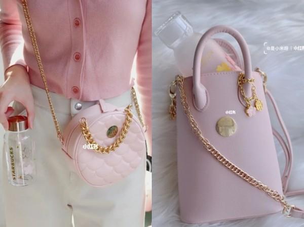 星巴克「櫻花粉小圓包」激似香奈兒!可愛配色加鍊條背帶顏值破表 | ET