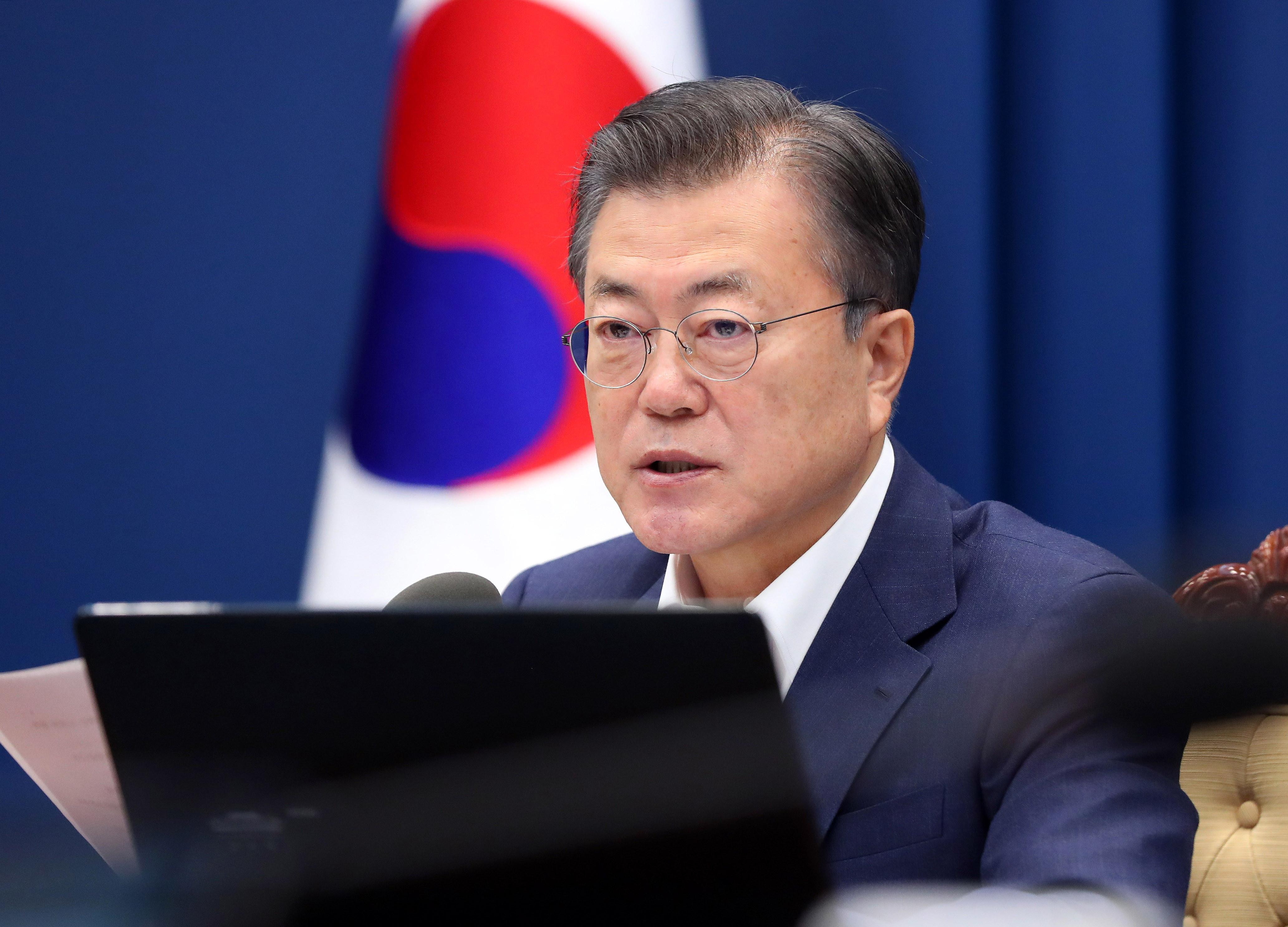 ▲▼南韓總統文在寅透過青瓦台表示,願意接種新冠AZ疫苗。(圖/達志影像)