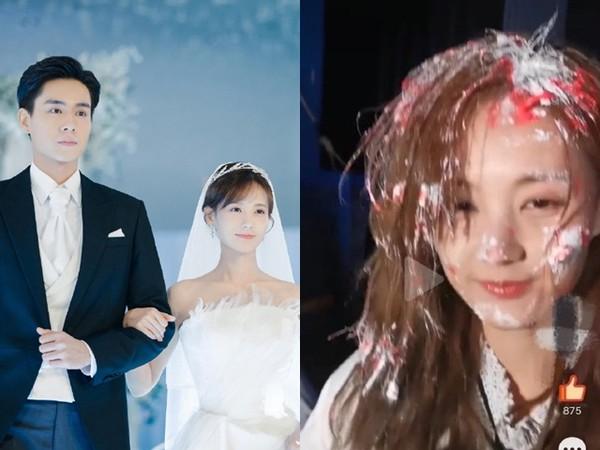 慶祝殺青…女星遭同劇演員「壓頭按進蛋糕」 現場照曝光粉氣瘋! | ETt