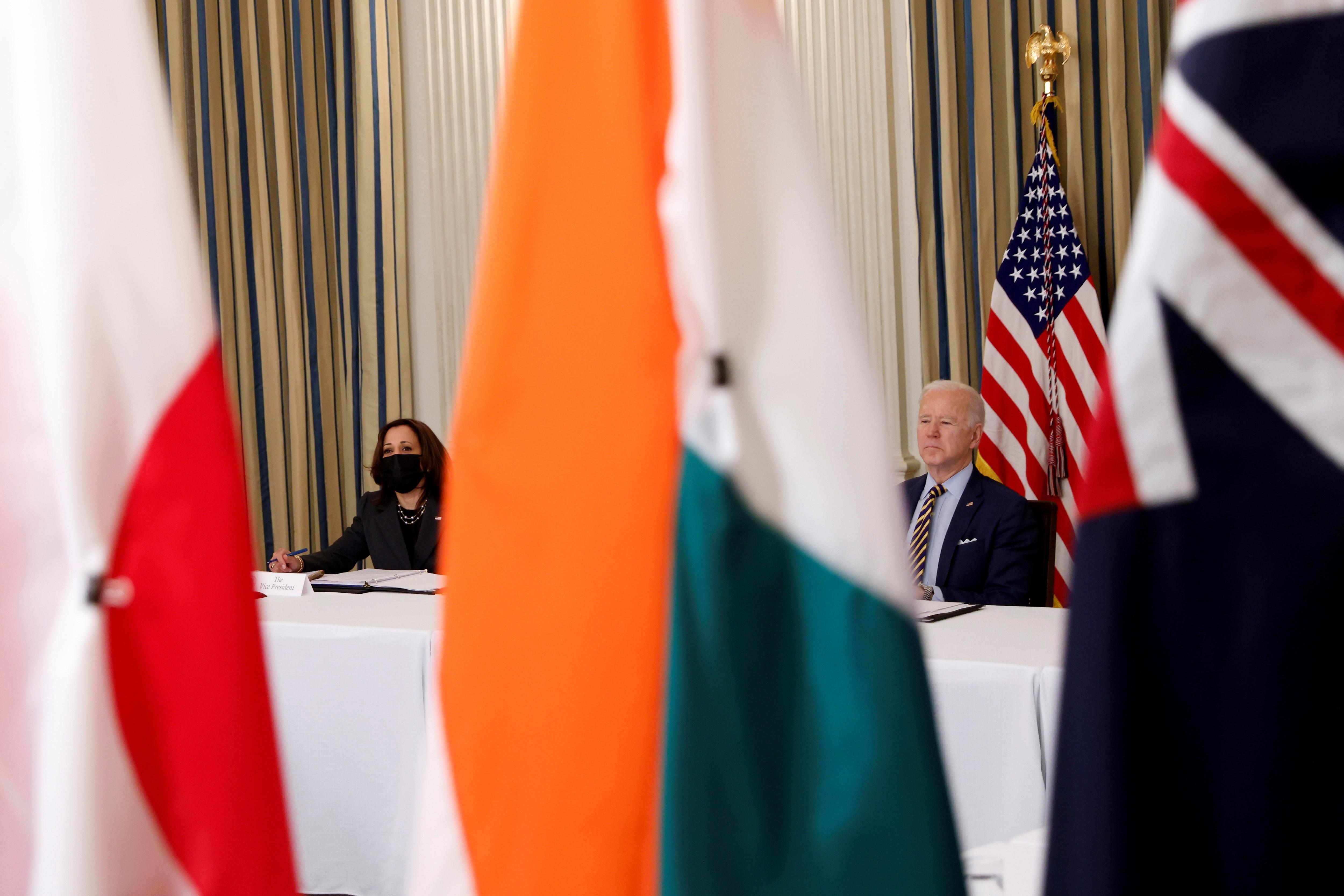 QUAD,美國,日本,印度,澳洲,中國,韓國,布林肯,拜登,菅義偉,印太戰略