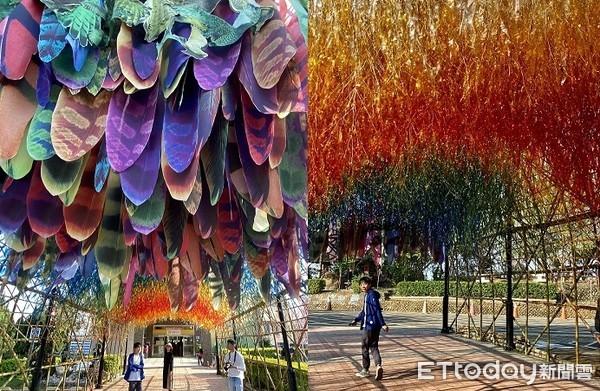 彰化八卦山新景點!超浪漫「彩色羽毛隧道」 加碼粉紅竹林超好拍 | ETt