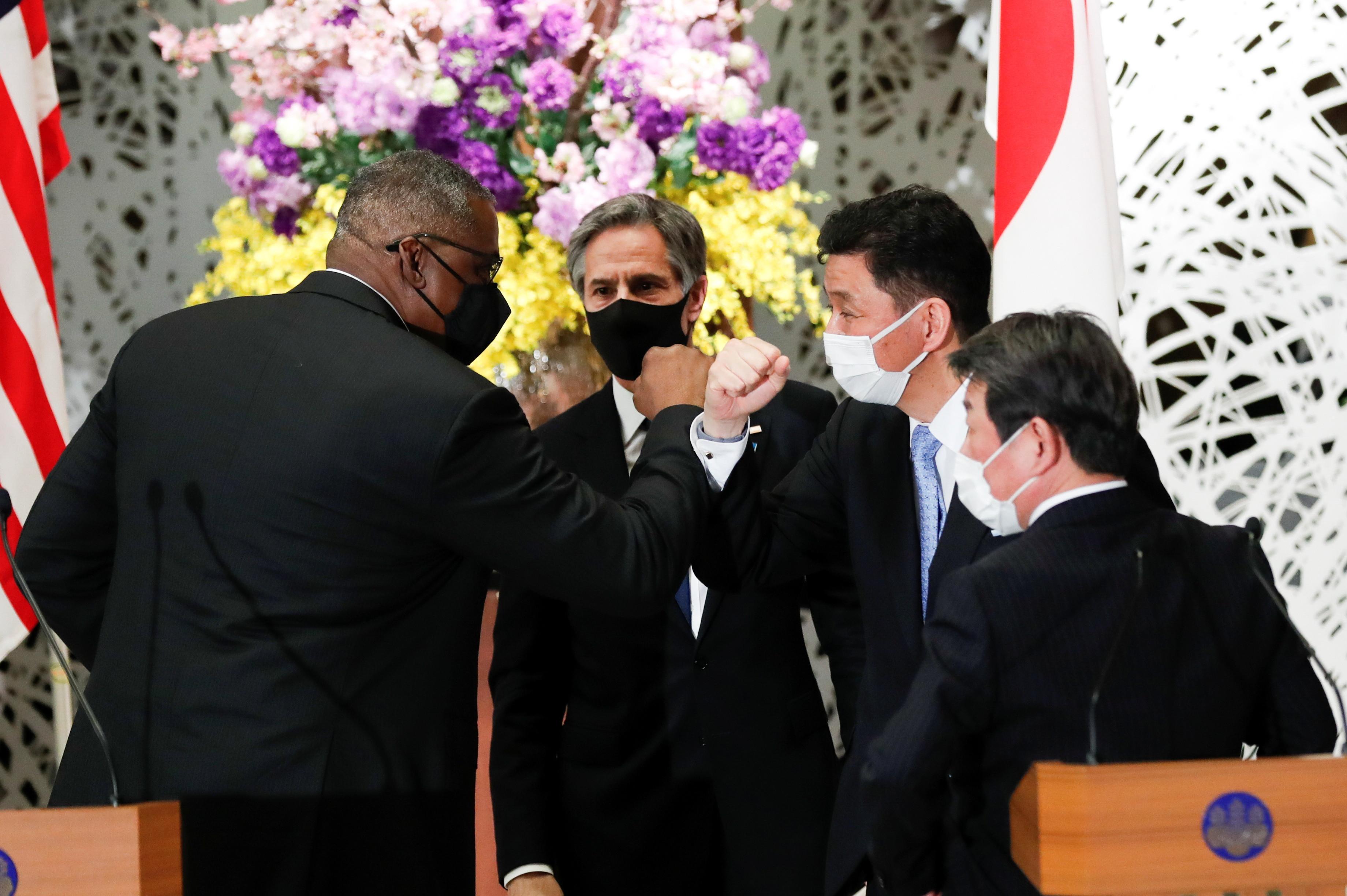 ▲▼美日雙方在台灣海峽和平安定的重要性上達成共識。(圖/路透社)