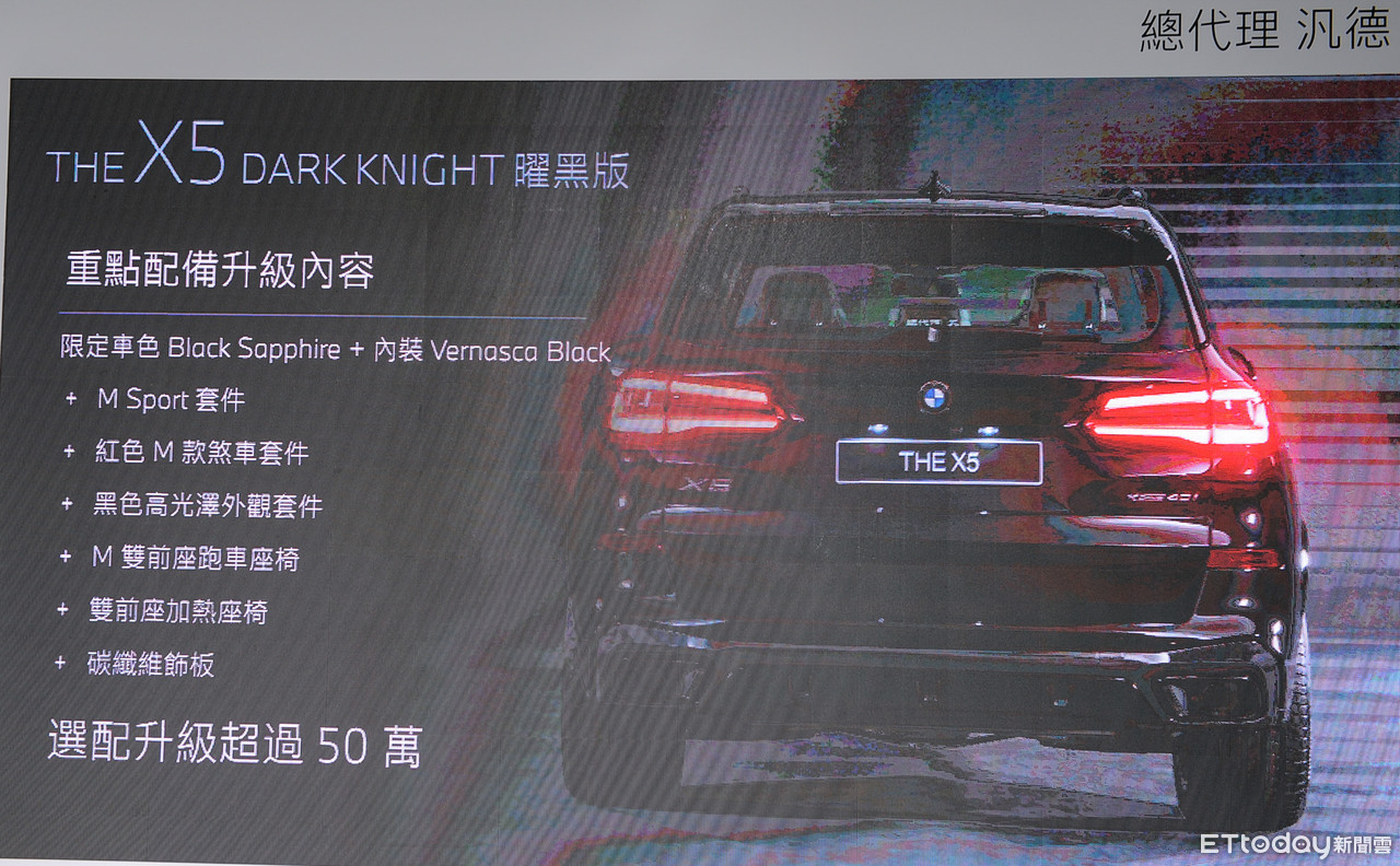 ▲BMW X5 Dark Knight Edition、X7 Dark Knight Edition曜黑版。(圖/記者林鼎智攝)