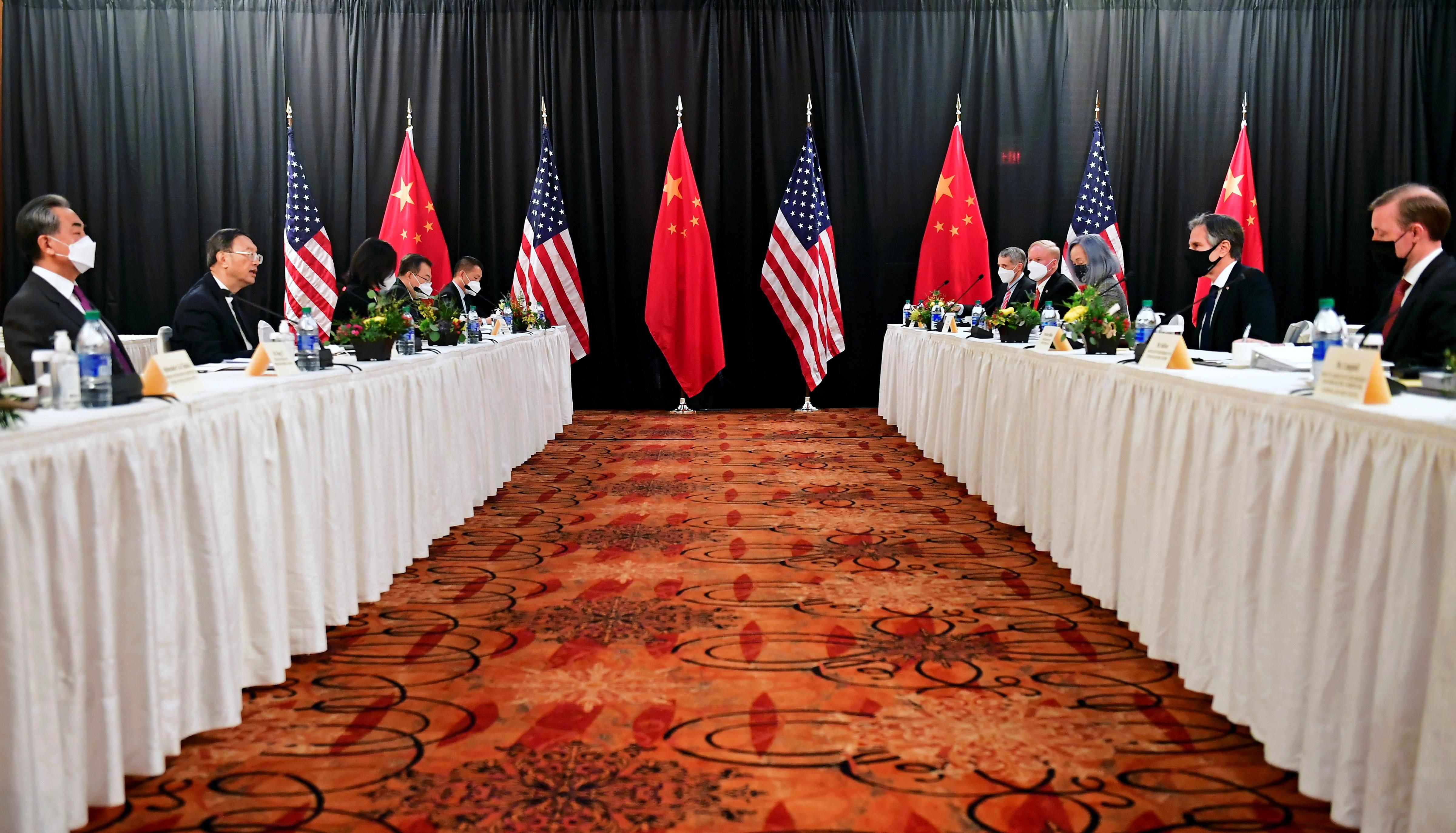 拜登,布林肯,蘇利文,楊潔篪,王毅,美中關係,新冷戰,貿易戰,美中台關係