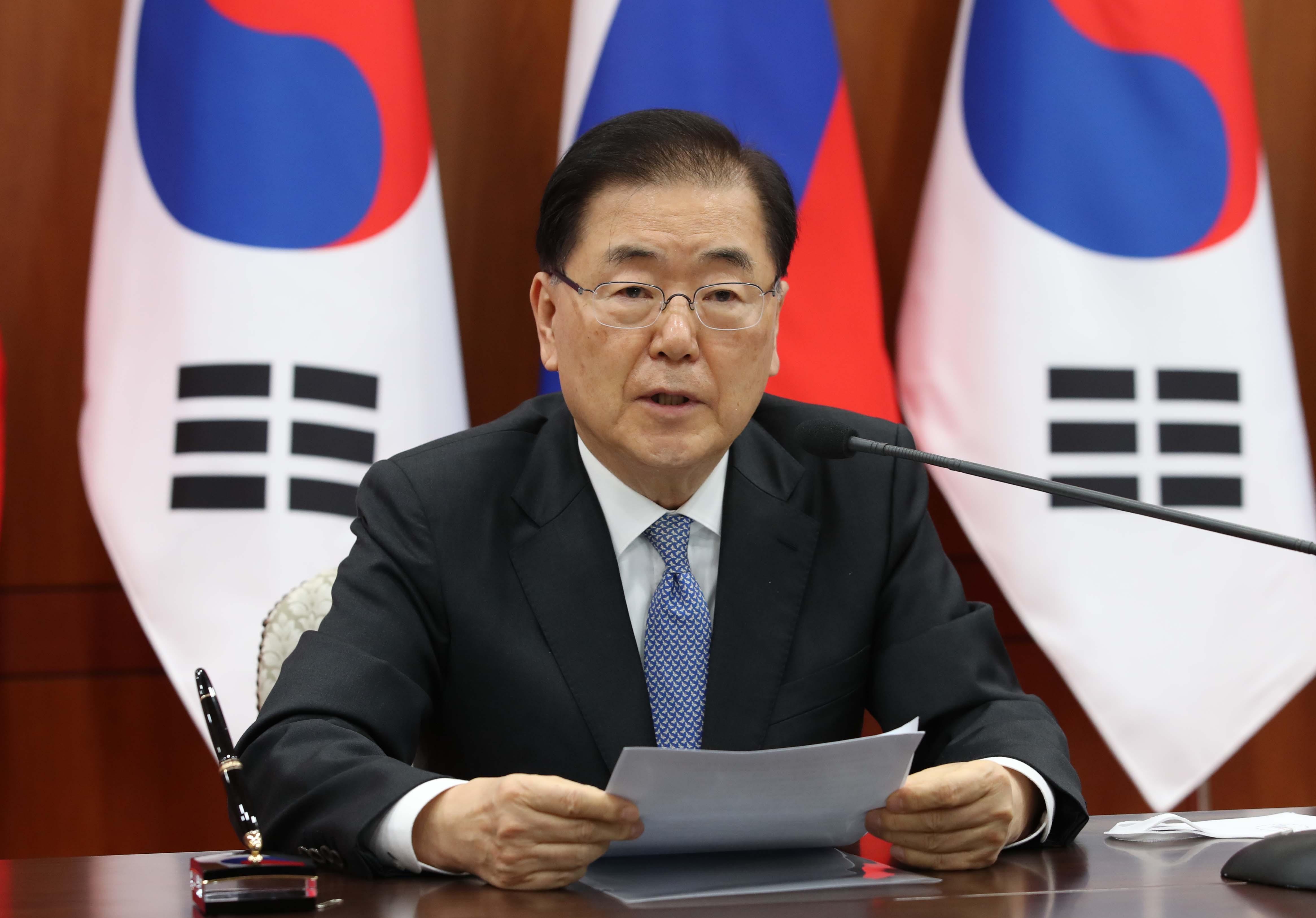 ▲▼南韓外交部長鄭義溶。(圖/達志影像)