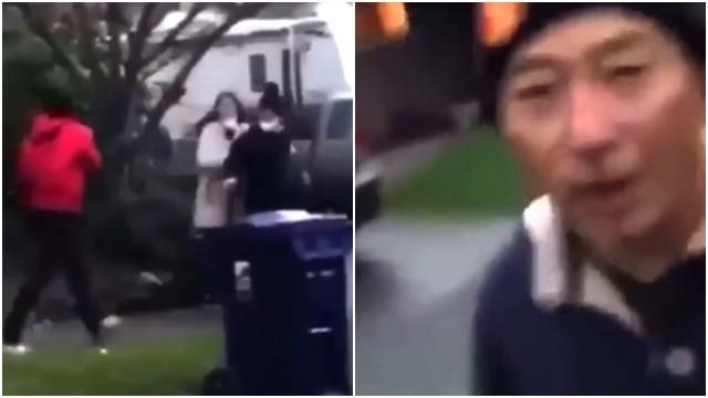 ▲▼韓裔中年男子慘遭青少年圍毆,表情相當震驚。(圖/翻攝自Twitter@choeshow)