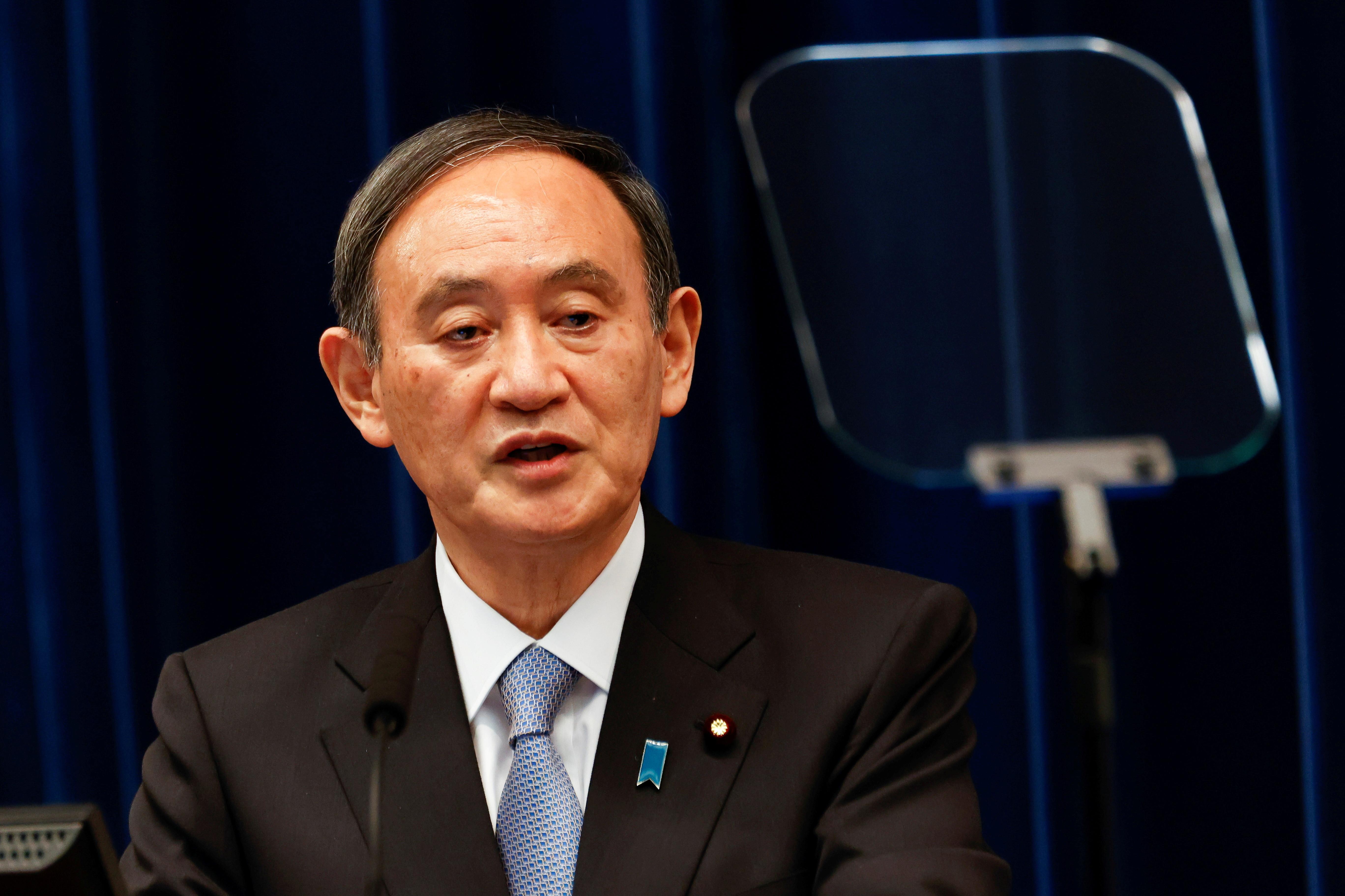 ▲▼菅義偉強調,台灣情勢對於日本來說很重要。(圖/路透社)