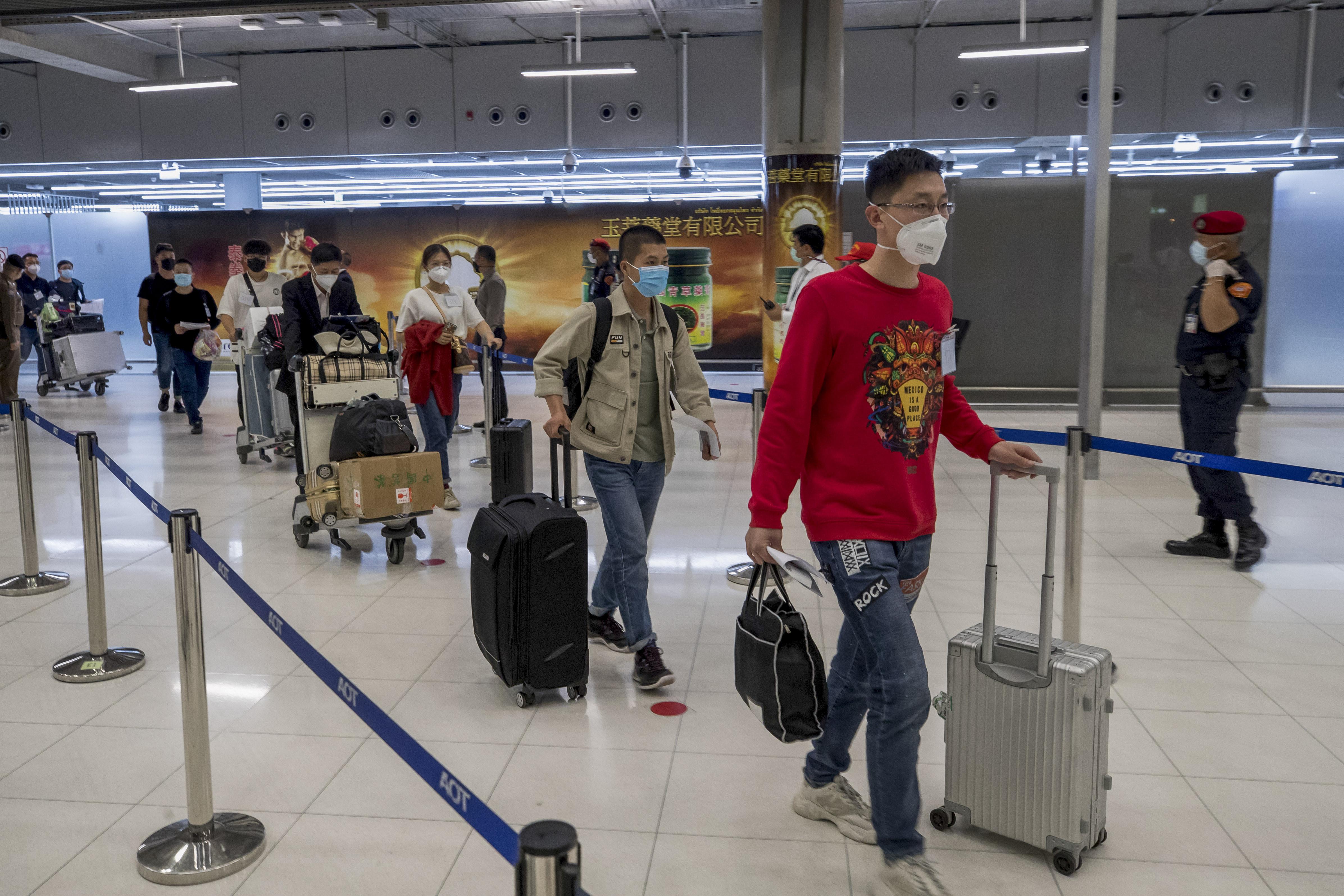 ▲▼泰國政府宣布,最快今年10月起入境旅客若已接種疫苗,無須隔離14天。(圖/達志影像/美聯社)