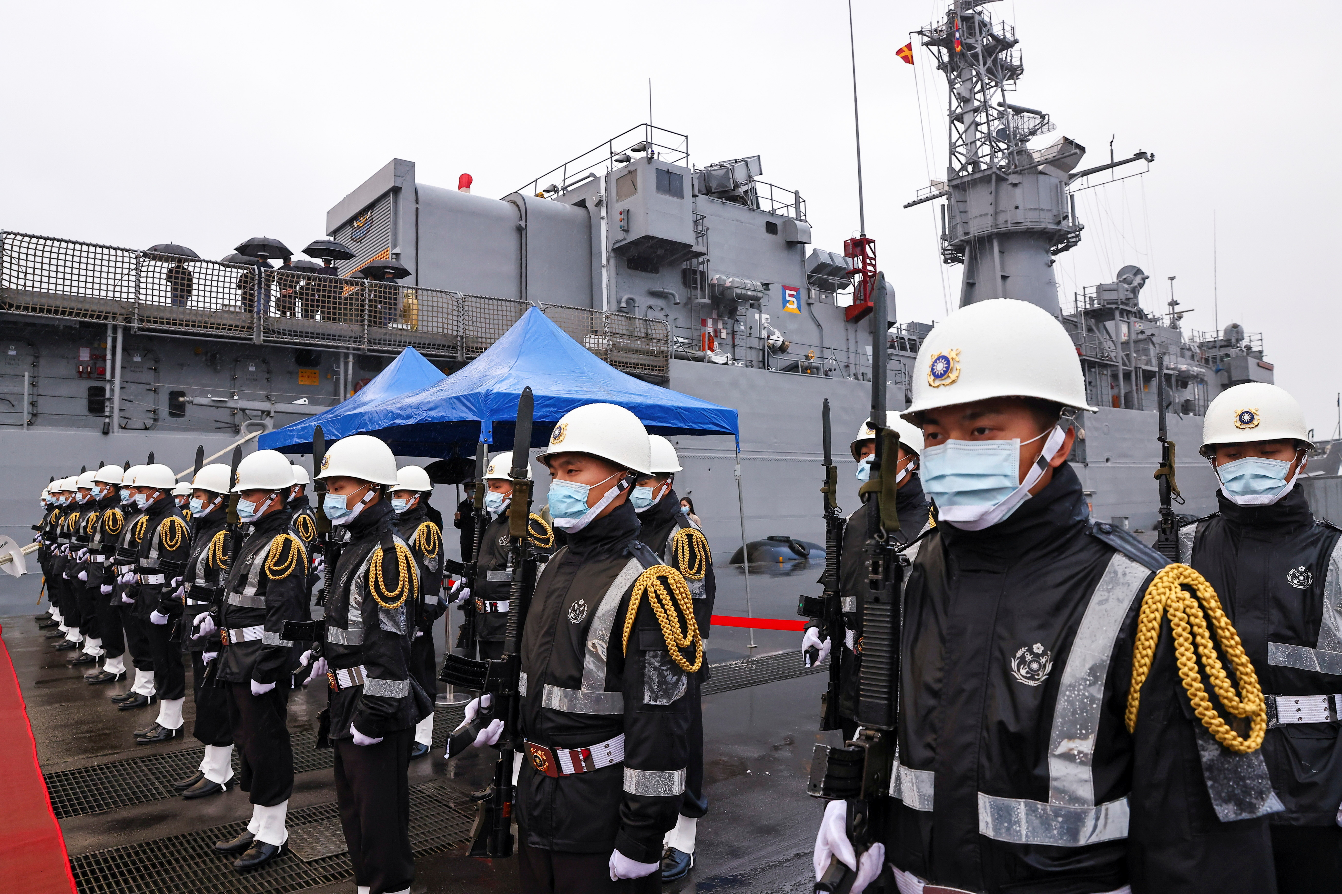 ▲▼台灣軍事訓練役期僅為4個月,與南韓、新加坡的20個月相比嚴重不足。(圖/路透社)