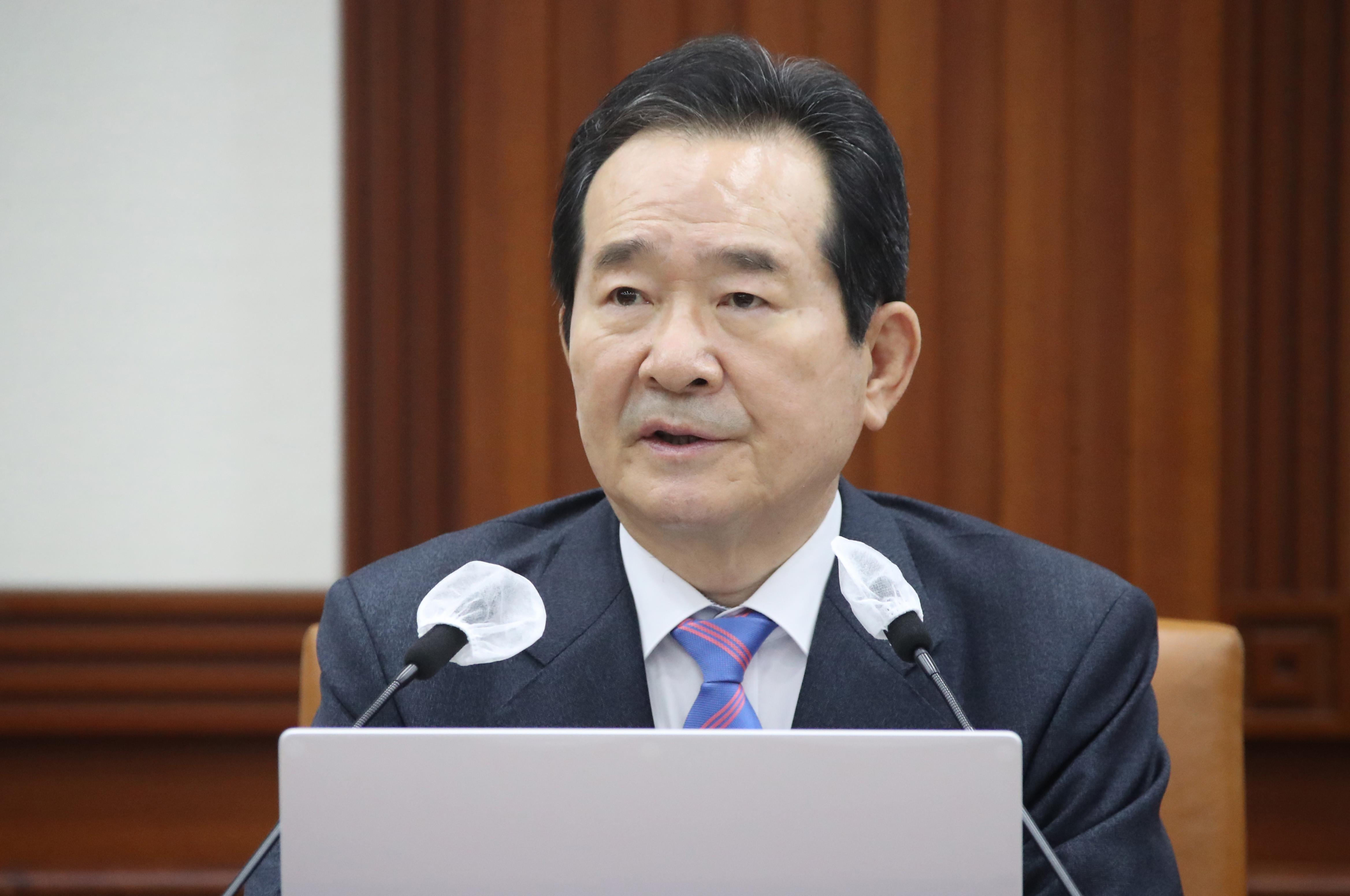 ▲▼南韓國務總理丁世均傳出下周將向文在寅提出請辭。(圖/達志影像)