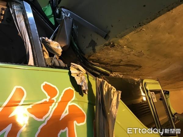 統聯客運開入台南「小東地下道」車頭被削半 警回應了
