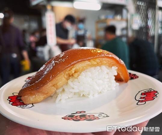 油亮油亮肥肉蓋在白飯上 彰化限定「爌肉握壽司」千人分享 | ETtoda