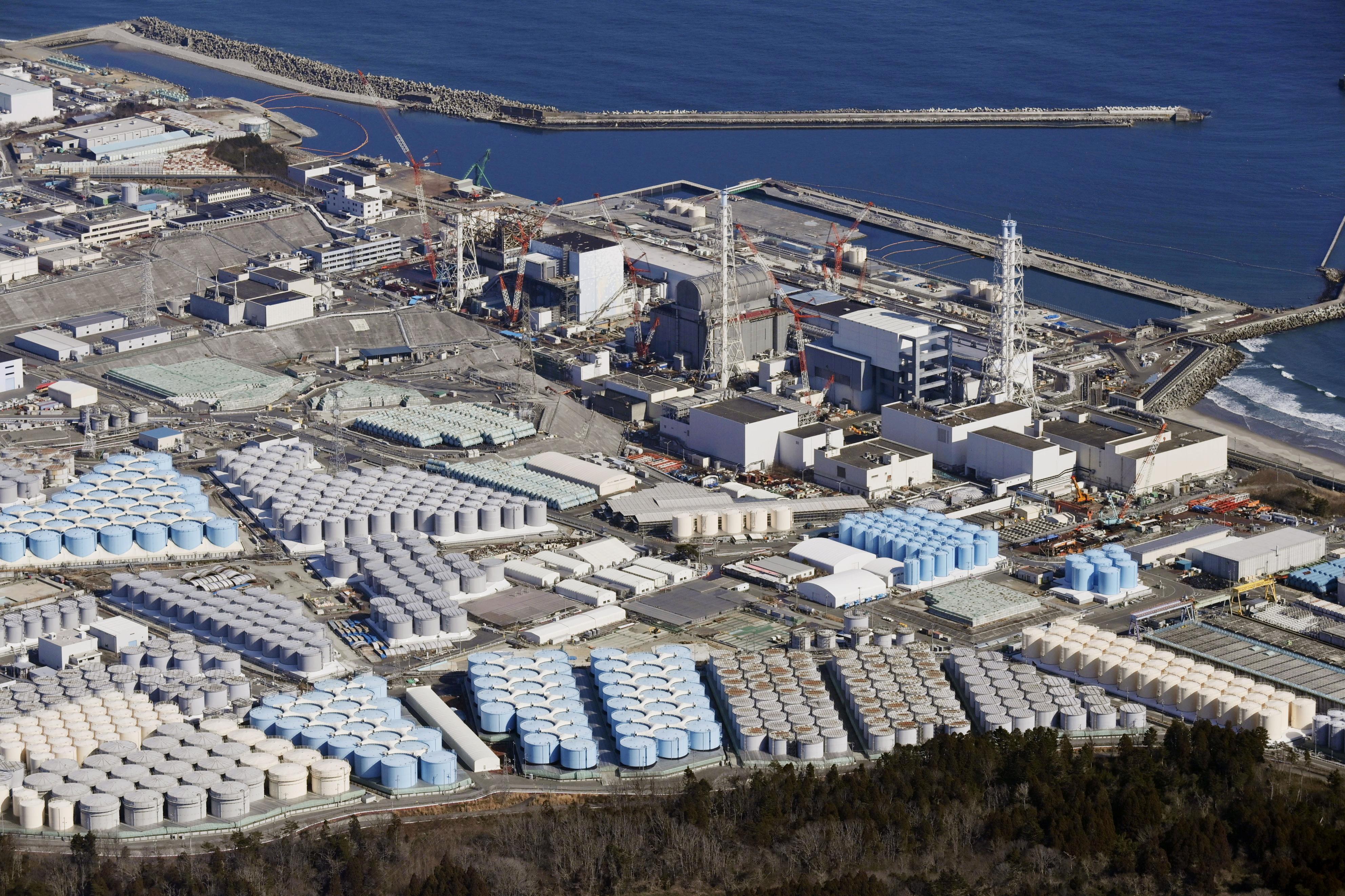 ▲▼日本政府決定將福島核電廠125萬噸的輻射汙水排入海洋。(圖/路透社)