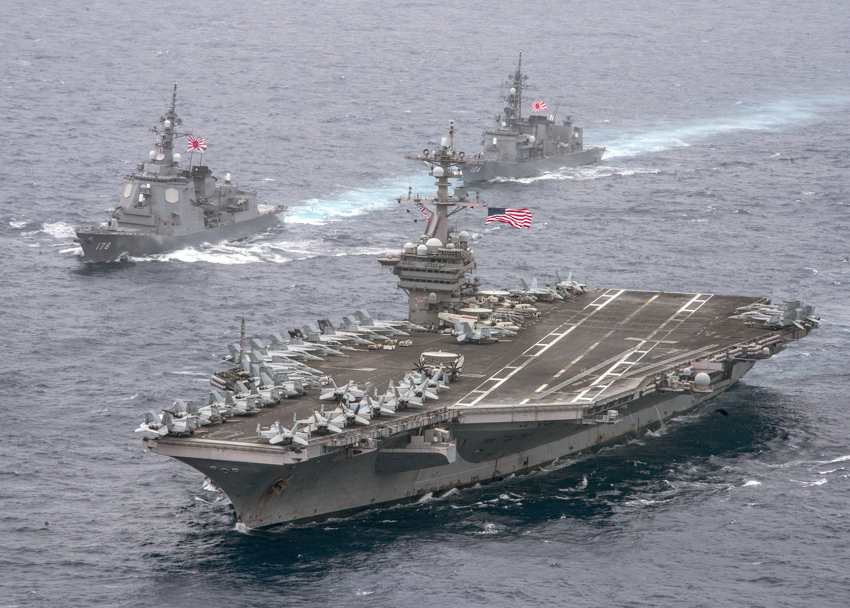 ▲▼美國海軍卡爾·文森號航空母艦。(圖/達志影像/美聯社)