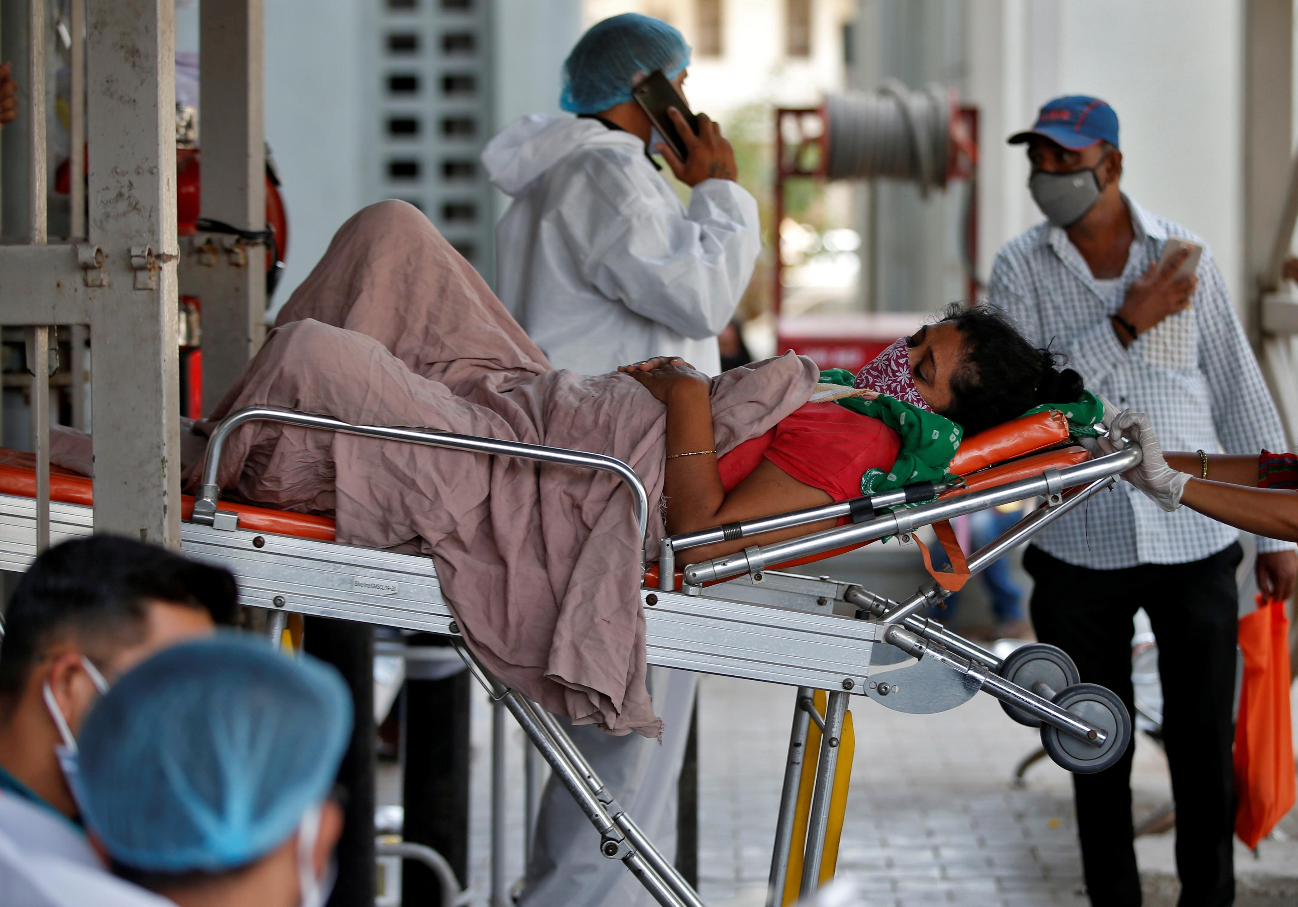 ▲▼印度疫情嚴重。(圖/路透)