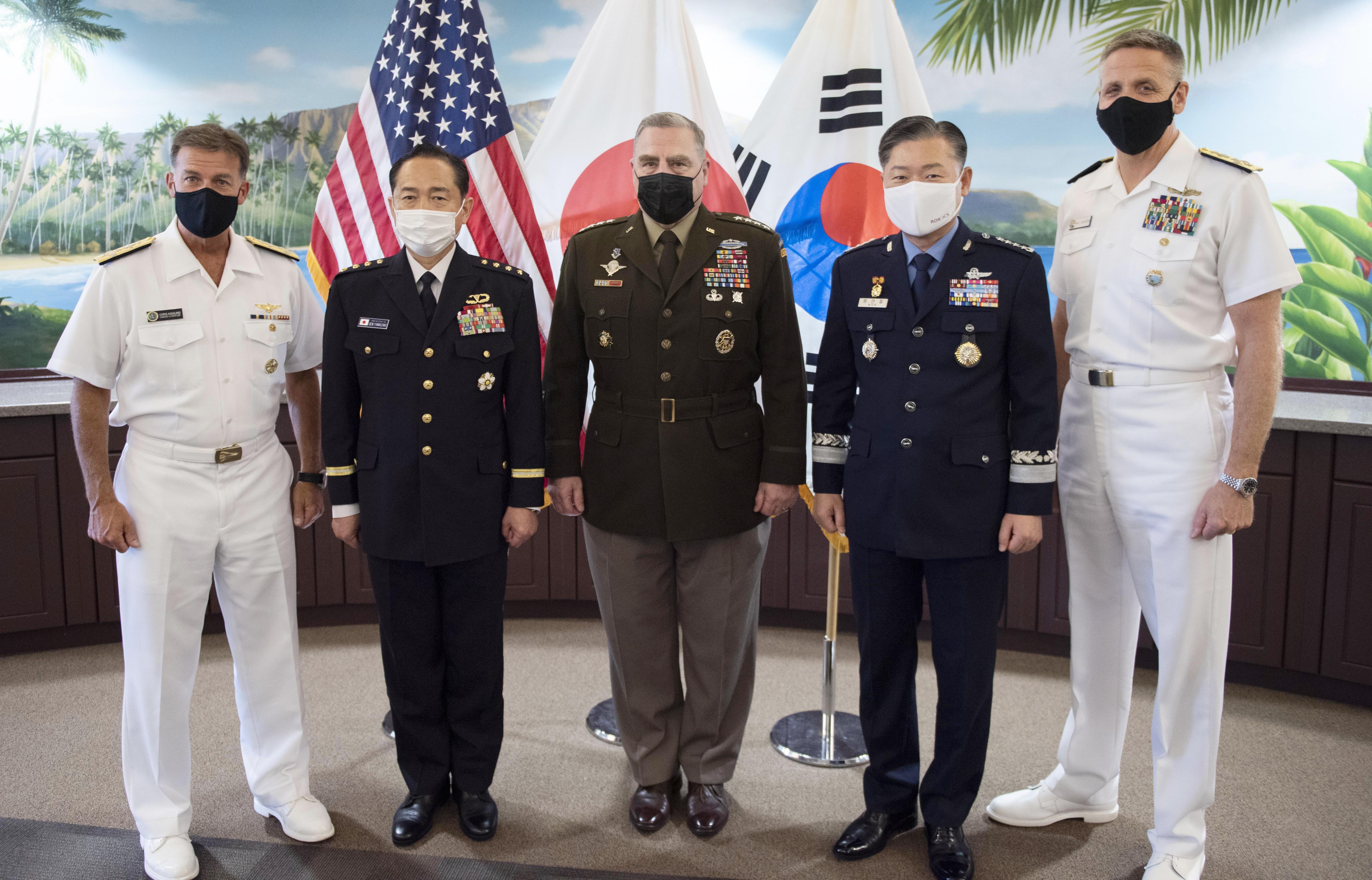 ▲▼美日韓3國參謀議長聚集在美國夏威夷,針對北韓核武等議題開會。(圖/達志影像)