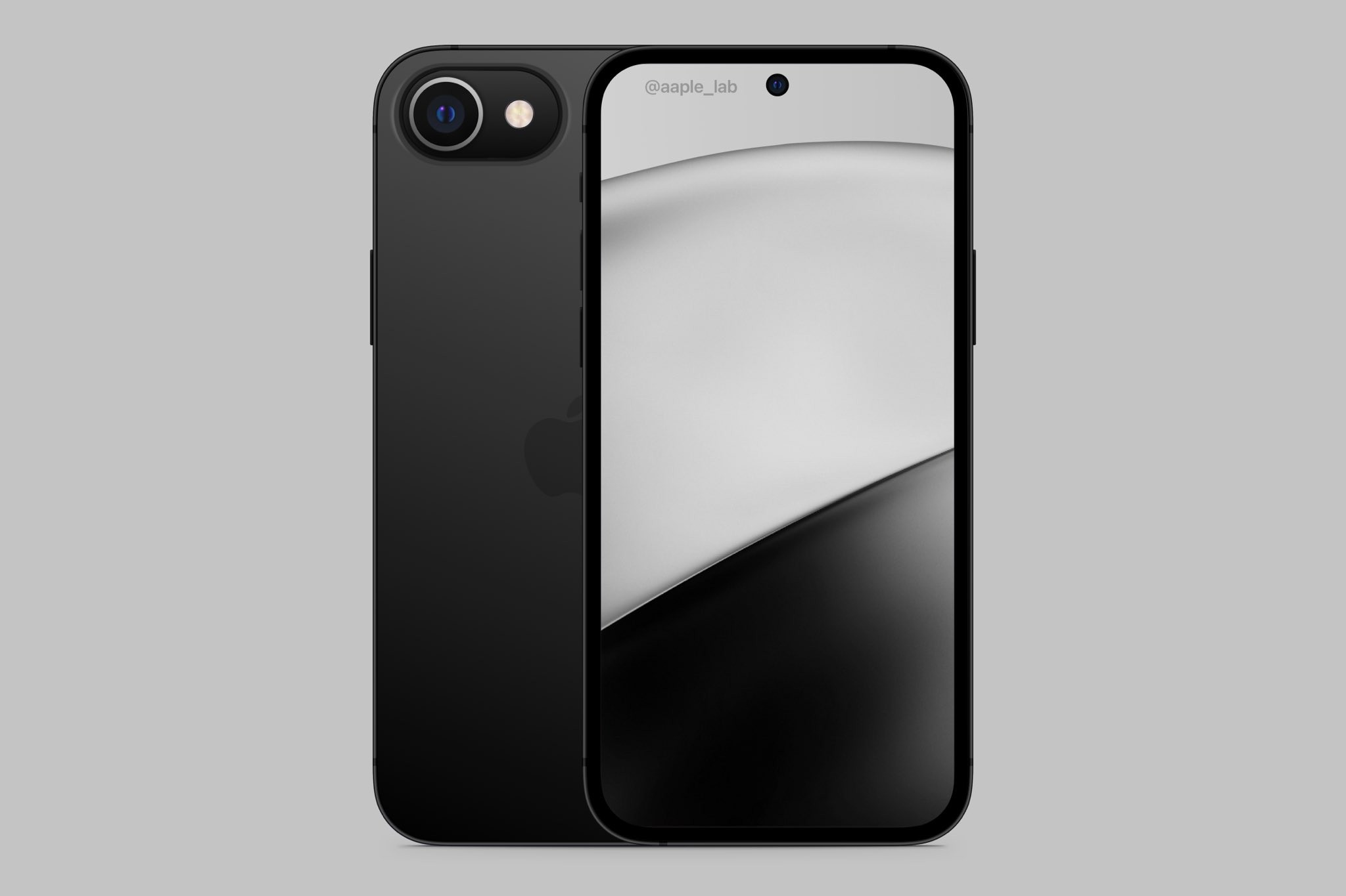 ▲▼iPhone SE 3渲染圖。(圖/翻攝自推特/@aaple_lab)