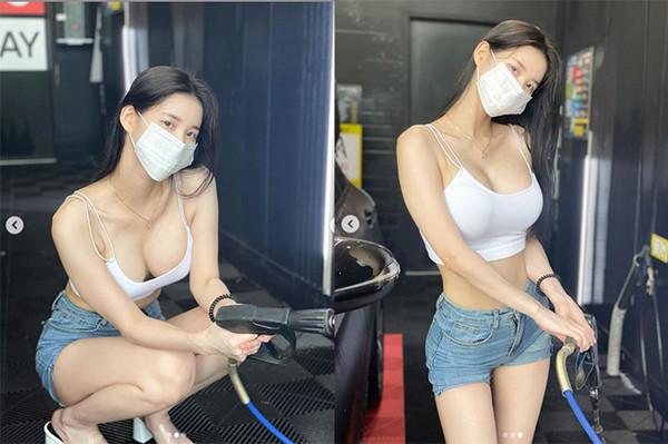 辣妹「自助洗車」彎腰炸豪乳 身分原來是百萬網紅   ETtoday國際新