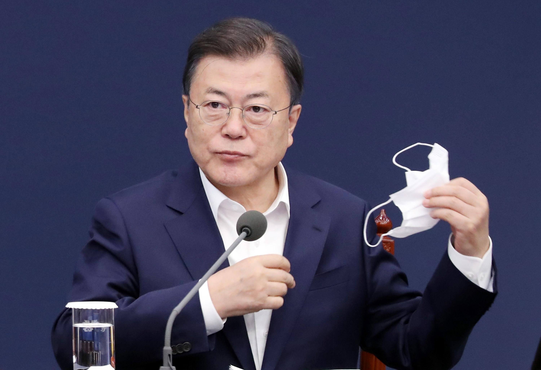 ▲▼文在寅被罵「北朝鮮的狗」,最後決定對民眾撤告。(圖/達志影像)