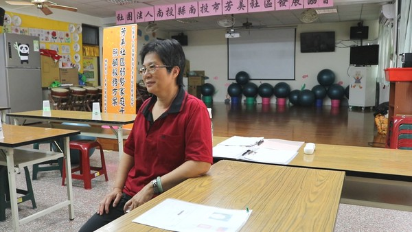 ▲ 芳美社區發展協會常務監事—陳淑雲老師。