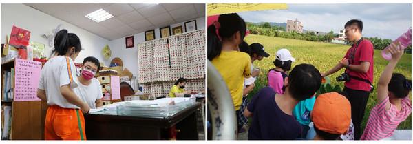 ▲ 陳老師的兒子也投入社區服務,為孩子設計各種課程。