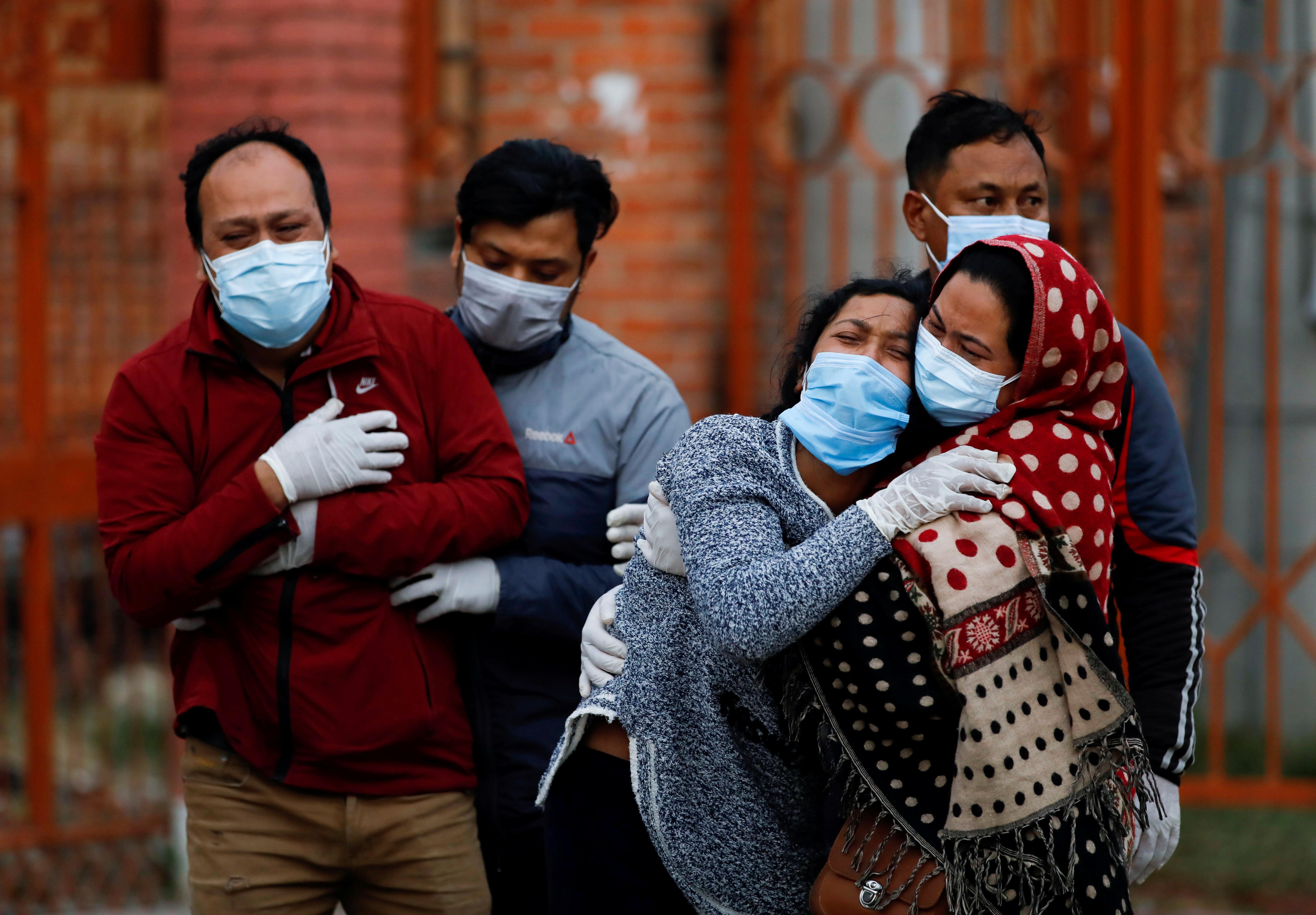 ▲▼疫情擴散,尼泊爾加德滿都民眾陷入極度恐慌(圖/路透社)