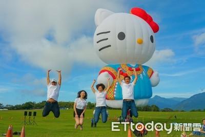 終於露面!HELLO KITTY熱氣球開箱立球 粉絲搶先近距離接觸