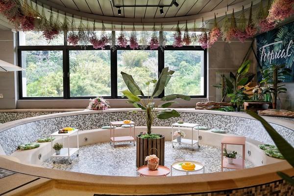 泳池裡喝拿鐵、吃鬆餅太療癒!苗栗最新森林咖啡廳 還能眺望山景