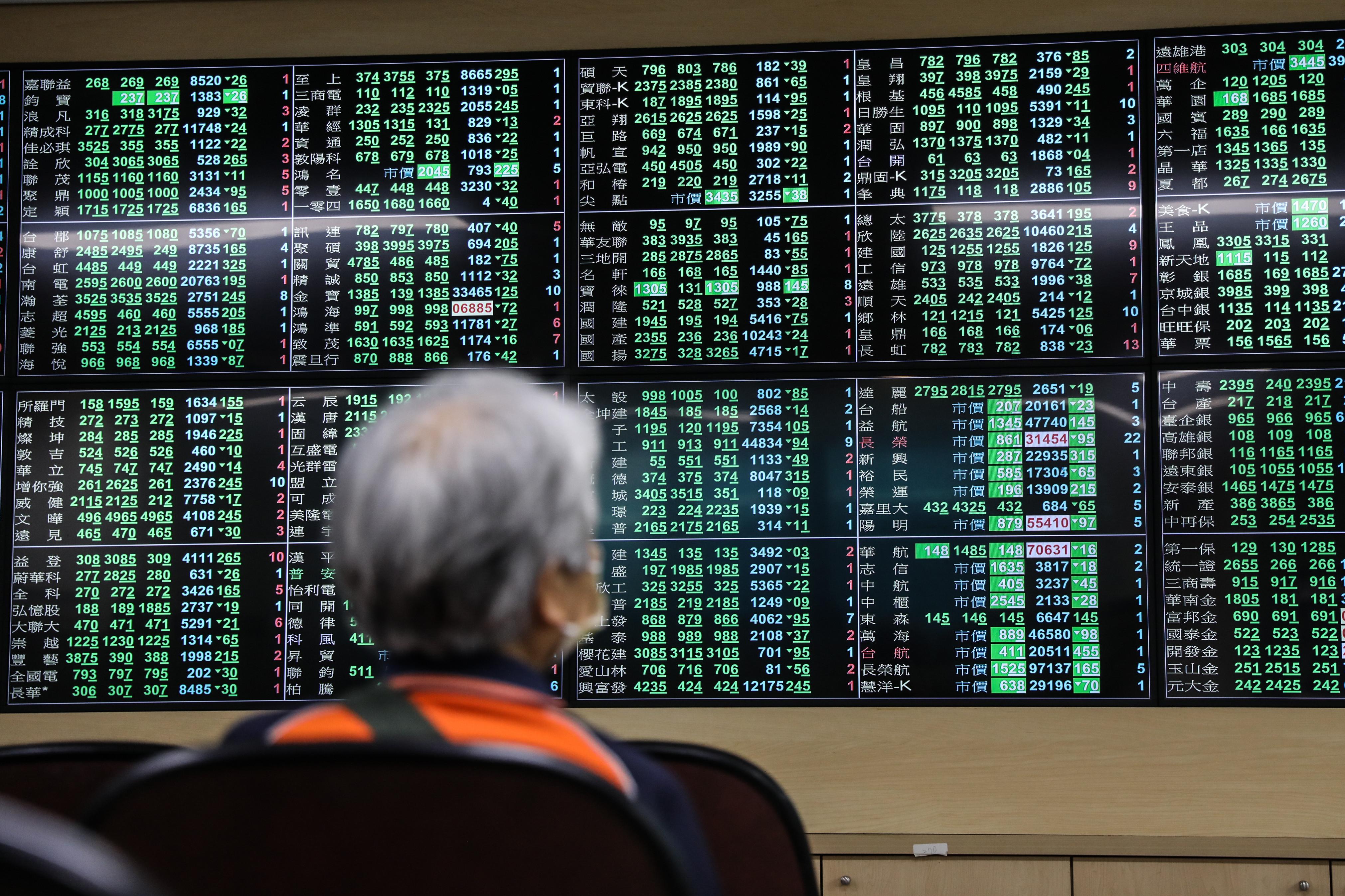 ▲台股今(12)日盤中一度重挫逾1400點,創下史上盤中最大跌幅,指數最低來到15165點。(圖/記者林敬旻攝)