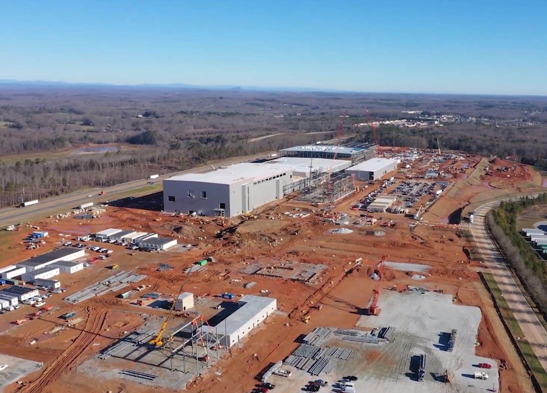 ▲▼南韓SK Innovation在美國喬治亞州投資建設電動車電池工廠,預計2021年完工。(圖/達志影像)