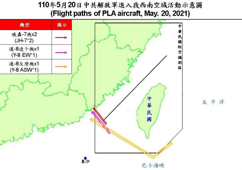 兩岸關係,共機,COVID-19,西南海域,ADIZ,G7,東沙島,巴士海峽