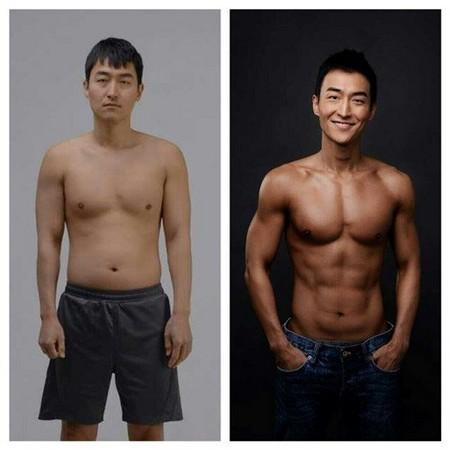 弱雞變猛男!韓諧星2個月激瘦10公斤 鮪魚肚縮成8塊肌
