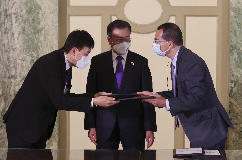 ▲▼三星與莫德納簽約,爭取代理生產新冠疫苗能優先項南韓供應。(圖/達志影像/newscom)