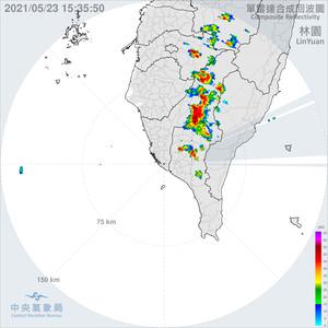 雨神來了!高雄六龜、茂林達大雨等級「時雨量最高55.5毫米」